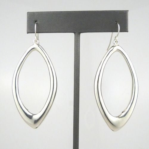 Simon Sebbag Sterling Silver  Elongated Hoop Earring E2827 - ILoveThatGift