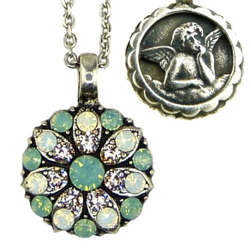 Mariana Guardian Angel Crystal Pendant Necklace 23439 Pacific Opal Clear White Opal - ILoveThatGift