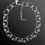 Mariana Handmade Clear Swarovski Crystal Silver Circle Necklace 3081 001001 - ILoveThatGift