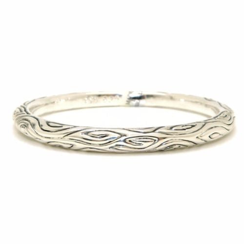 Simon Sebbag Sterling Silver 925 Textured Bali Bangle Bracelet B1352 - ILoveThatGift