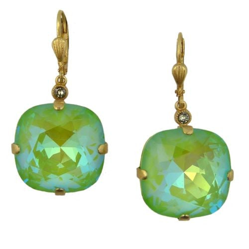 La Vie Parisienne Gold Ultra Lime Earrings 6544G Catherine Popesco - ILoveThatGift