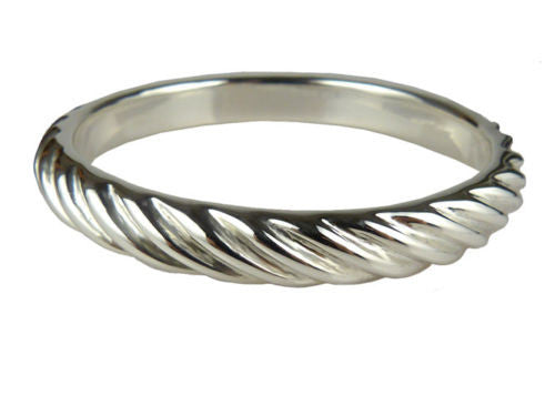 Simon Sebbag Ridged Sterling Silver 925 Bracelet B1238 SS Bangle - ILoveThatGift