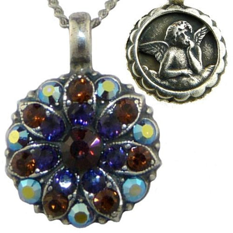 Mariana Guardian Angel Crystal Pendant Necklace 1030 Topaz Amethyst Crystal AB - ILoveThatGift