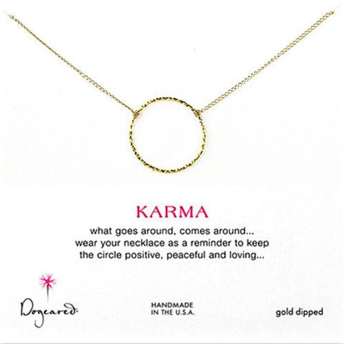 "Dogeared Medium Sparkle Karma Necklace, Gold Dipped 18"" - ILoveThatGift"