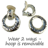 Simon Sebbag Hammered Sterling Silver 925 Door Knocker Clip On Earrings 2-in-1 - ILoveThatGift