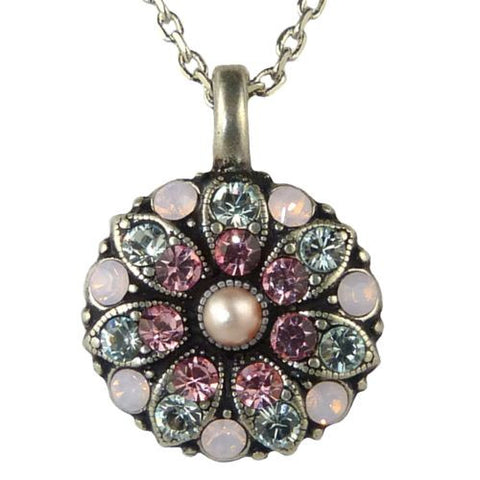 Mariana Guardian Angel Crystal Pendant Necklace 1340 Indian Pink Rose Pearl - ILoveThatGift