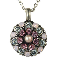 Mariana Guardian Angel Crystal Pendant Necklace 1340 Indian Pink Rose Pearl