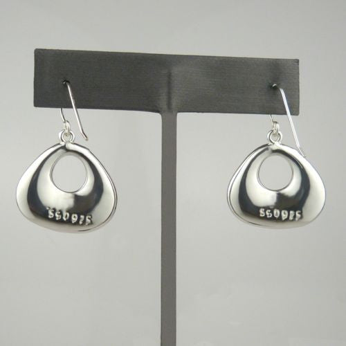 Simon Sebbag Sterling Silver Smooth Rounded Triangle Open Earrings E237 - ILoveThatGift