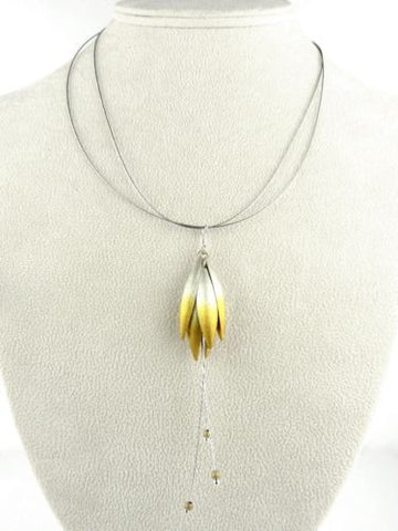 "Handmade Sterling Silver Gold Vermeil Petal Necklace 17 "" Mysterium - ILoveThatGift"
