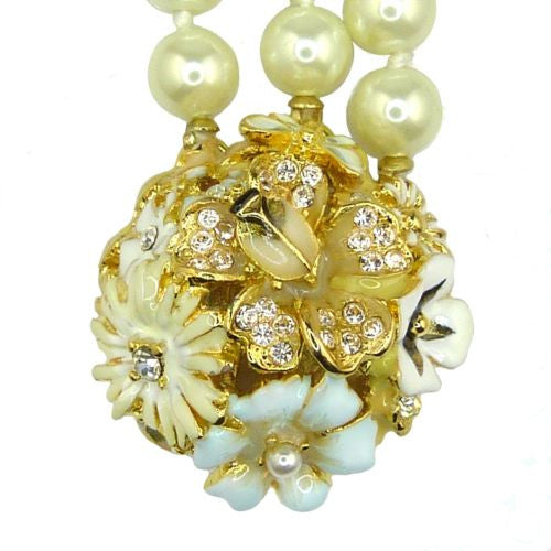 Kenneth Jay Lane 3 Row Pearl Necklace 6792HPW from Garden Party Collection - ILoveThatGift