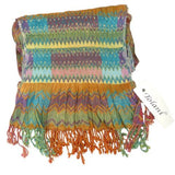 Tolani Zig Zag Robin Scarf Wrap 12 x 74 Rust Turquoise Orange Red - ILoveThatGift