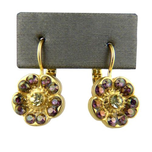 Mariana Handmade Gold Swarovski Crystal Earrings 1220 1032 Purple Jonquil - ILoveThatGift