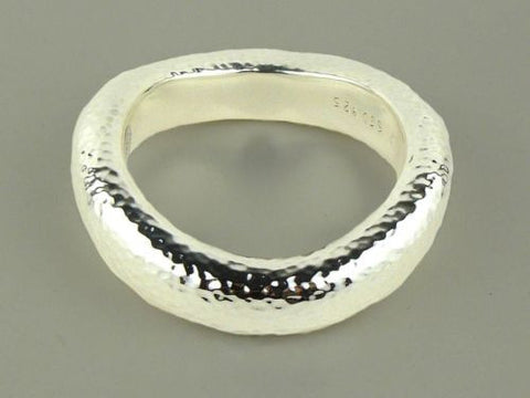 Simon Sebbag Hammered Wide Sterling Silver 925 Bracelet B1279 - ILoveThatGift