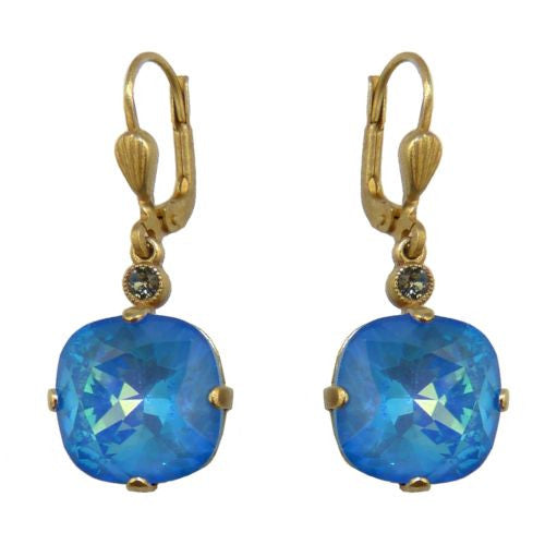 La Vie Parisienne Earrings Swarovski Crystal Popesco 6556G Ultra Blue - ILoveThatGift