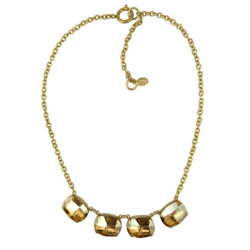 La Vie Parisienne Gold Champagne Large Swarovski Necklace 1469G Catherine Popesco - ILoveThatGift