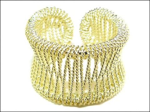 18K Gold Plated Woven Mesh Ring by SAI - ILoveThatGift