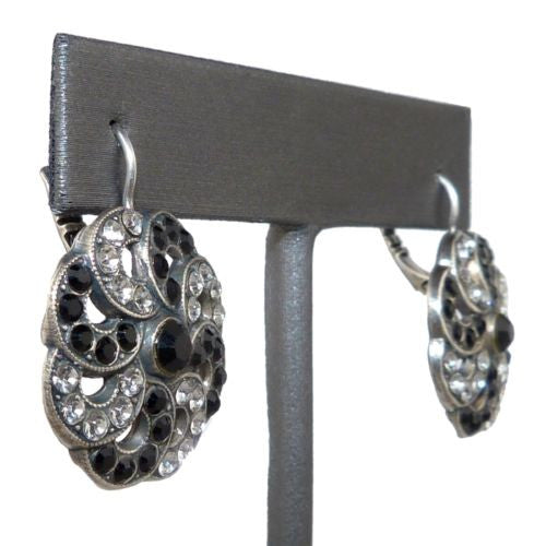 Mariana Handmade Swarovski Crystal Earrings 1083/2 280-1 Clear Crystal Black - ILoveThatGift