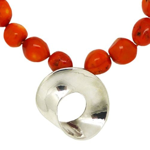 Simon Sebbag Organic Coral Chunky Nugget Necklace Sterling Silver 925 Moibus Pen - ILoveThatGift