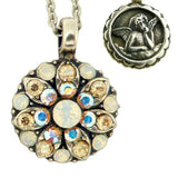 Mariana Guardian Angel Crystal Pendant Necklace 777 Opal Clear AB - ILoveThatGift
