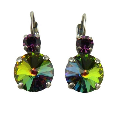 Mariana Handmade Swarovski Crystal Large Round Earrings 1037R 1033 Rivoli Rainbow - ILoveThatGift