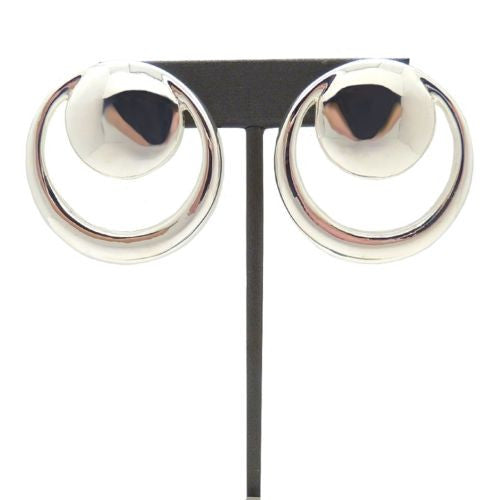 Simon Sebbag Sterling Silver Smooth Double Circle Post Earring E2866 - ILoveThatGift