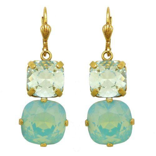 La Vie Parisienne Earrings Swarovski Double Crystal Popesco Pacific Opal 6503G - ILoveThatGift