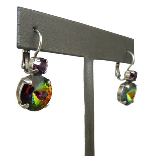 Mariana Handmade Swarovski Crystal Large Round Earrings 1037R 1033 Rivoli Rainbo - ILoveThatGift