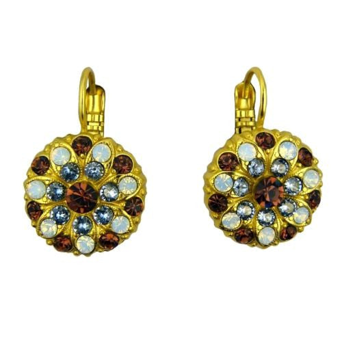 Mariana Handmade Swarovski Crystal Earrings Gold 1029 1016 Topaz Light Sapphire - ILoveThatGift
