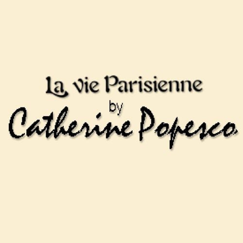 La Vie Parisienne Round Gold Hoop Earrings Encrusted with Crystals 9559G Catherine Popesco - ILoveThatGift