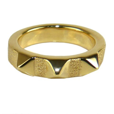 Charles Garnier 18K Gold Plated SS Taylor Spike Ring Size 7 - ILoveThatGift