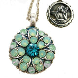 Mariana Guardian Angel Crystal Pendant Necklace 390-1 Opal Blue Zircon