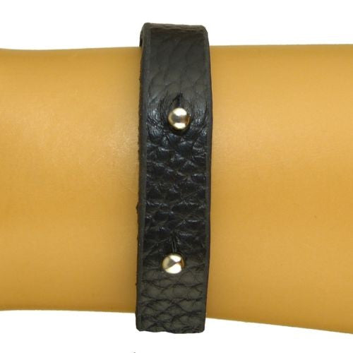 Ombre Rhinestone Bar Leather Bracelet Black or Brown by Funky Junque - ILoveThatGift