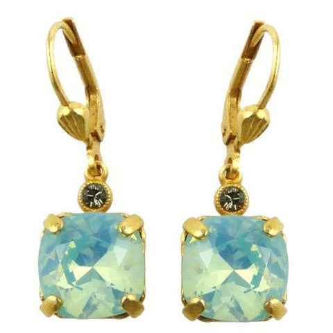 La Vie Parisienne Earrings Gold Swarovski Crystal Dangle Popesco 6581G Pacific O - ILoveThatGift