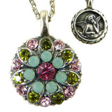 Mariana Guardian Angel Crystal Pendant Necklace 806 Fuschia Pink Opal