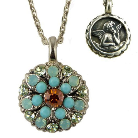 Mariana Guardian Angel Crystal Pendant Necklace 1317 Opal Silver - ILoveThatGift