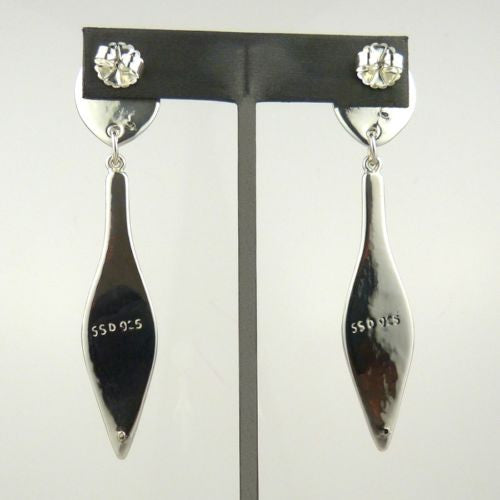 Simon Sebbag Sterling Silver Smooth Long Leaf Post Earrings E2785 - ILoveThatGift