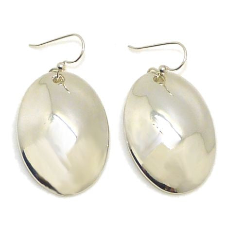Simon Sebbag Sterling Silver Large Smooth Oval Earrings E2772 - ILoveThatGift