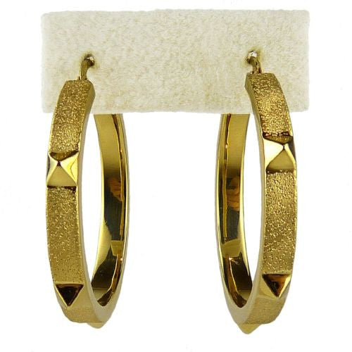 Charles Garnier Jewel Rock Spike Bangle Yellow Gold Over Sterling Silver - ILoveThatGift