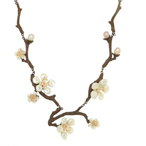 "Cherry Blossom 17"" Adjustable Twig Necklace by Michael Michaud - ILoveThatGift"