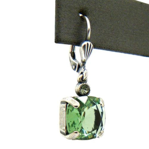 La Vie Parisienne Earrings Silver Swarovski Crystal Dangle Popesco 6581G Marine - ILoveThatGift