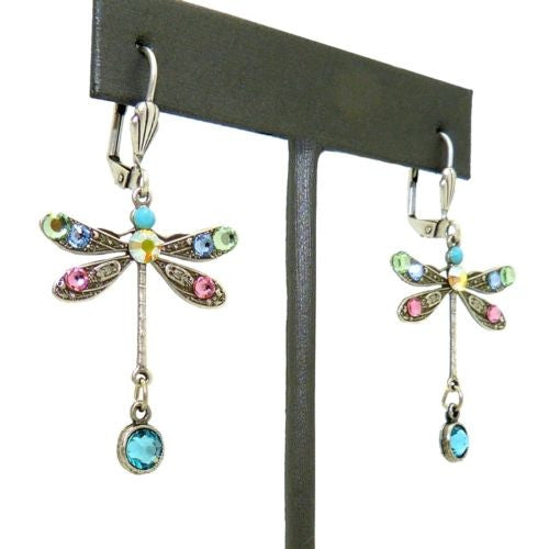 Anne Koplik Swarovski Crystal Dragonfly Drop Earrings ES7867PAS Silver Pastel - ILoveThatGift