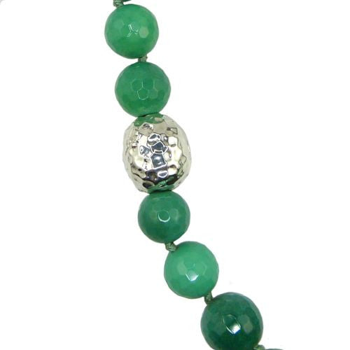 Simon Sebbag Sterling Silver Apple Green Chrysoprase Beads Toggle Clasp Necklace - ILoveThatGift
