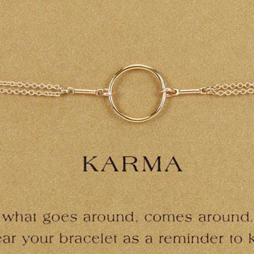Dogeared Original Karma Bracelet Gold Dipped - ILoveThatGift