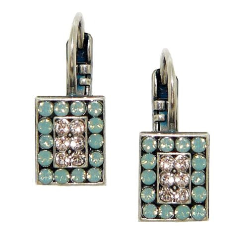 Mariana Handmade Swarovski Crystal Rectangular Pave Earrings 1068-1 23439 - ILoveThatGift