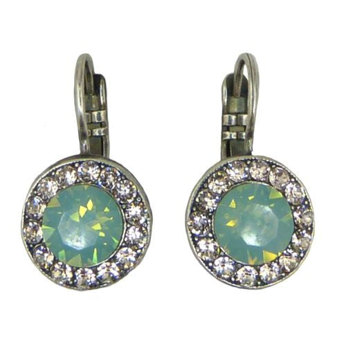 Mariana Handmade Swarovski Crystal Earrings 1129 23439 Seaside Green Opal Peach - ILoveThatGift