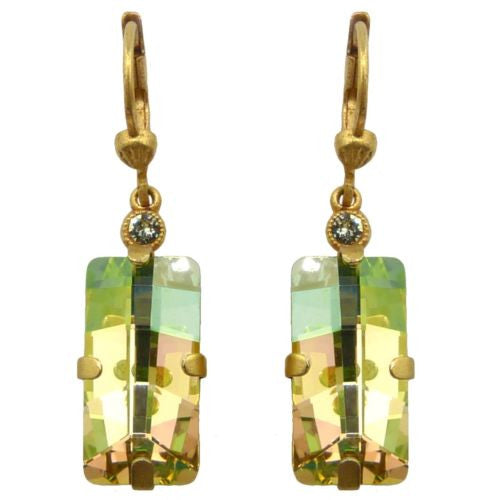 La Vie Parisienne Earrings Swarovski Crystal Dangle Popesco 6526G Jonquil Yellow - ILoveThatGift