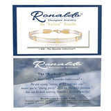 Ronaldo Katbird 970 Bar Bracelet Stamped Silver Bar with Gold Wire - ILoveThatGift
