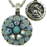 Mariana Guardian Angel Crystal Pendant Necklace 717 Turquoise Blue Shade Pacific - ILoveThatGift