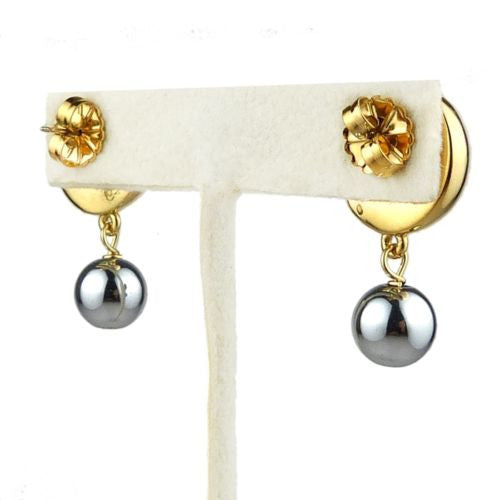 Simon Sebbag 24K Gold and Hematite over Sterling Silver Double Earrings Post - ILoveThatGift