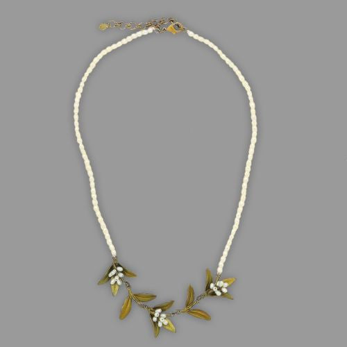 "Flowering Myrtle 16"" Adjustable Pearl Necklace by Michael Michaud - ILoveThatGift"